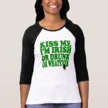Béseme que soy irlandés o borracho o lo que camisetas