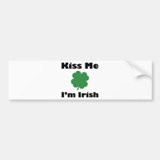 Béseme que soy irlandés pegatina para auto