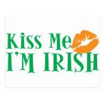 Béseme que soy irlandés postal