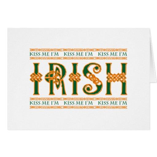 Béseme que soy irlandés tarjetón
