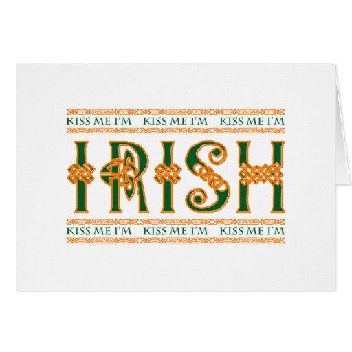 Béseme que soy irlandés felicitación