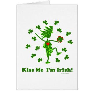 ¡Béseme que soy irlandés! Tarjeta De Felicitación
