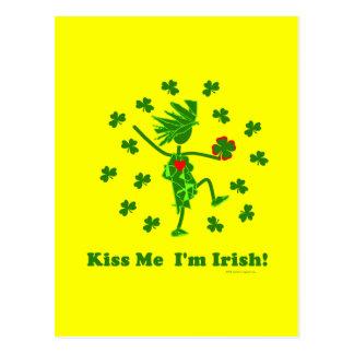 ¡Béseme que soy irlandés! Tarjetas Postales