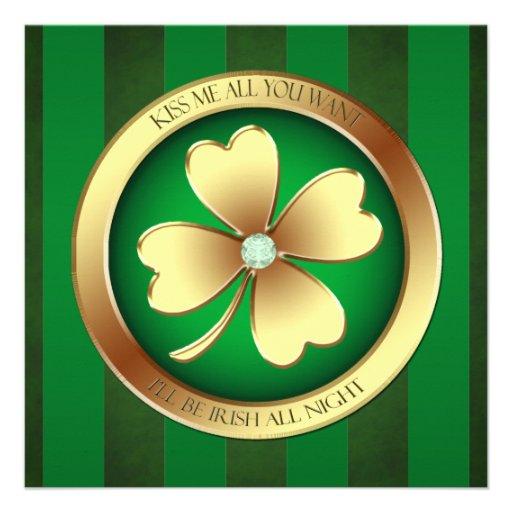 Béseme que soy irlandés toda la invitación del fie