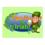 Béseme que soy irlandés (Ver 2) Tarjetas Postales