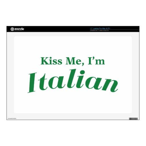 Béseme que soy italiano skins para 43,2cm portátil