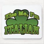 Béseme que soy italiano Mousepad Alfombrillas De Ratón