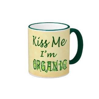 Béseme que soy jardinero orgánico que dice la taza