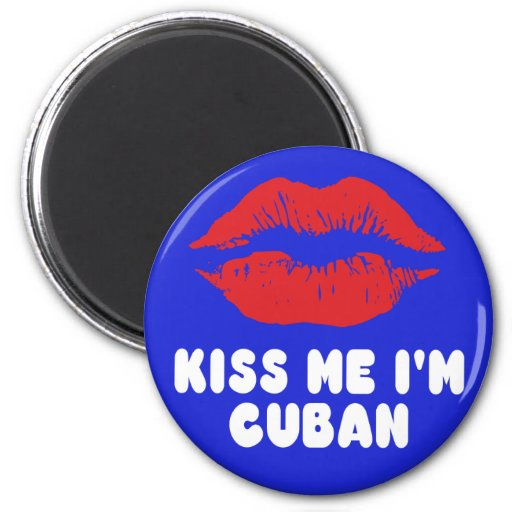 Béseme que soy labios cubanos imán de nevera