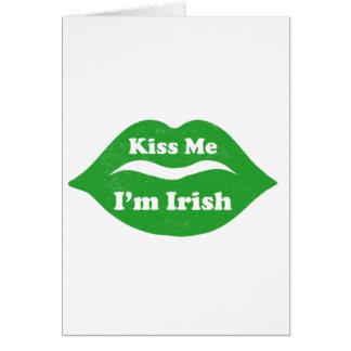 Béseme que soy (los labios) día irlandés del St. P Tarjeta De Felicitación