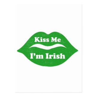 Béseme que soy (los labios) día irlandés del St. P Tarjetas Postales
