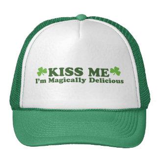 Béseme que soy mágico delicioso gorras de camionero