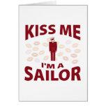 Béseme que soy marinero tarjetas