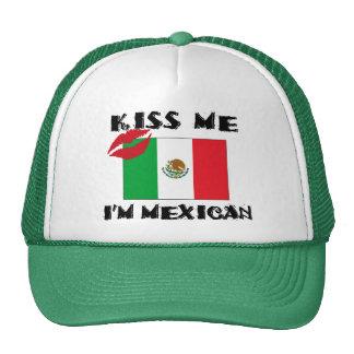 Béseme que soy mexicano gorros