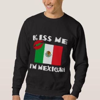 Béseme que soy mexicano sudadera con capucha