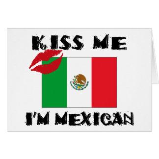 Béseme que soy mexicano felicitación