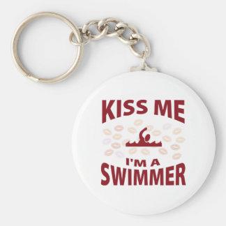 Béseme que soy nadador llaveros