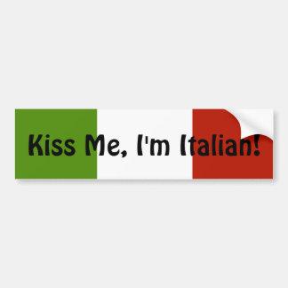 Béseme que soy pegatina para el parachoques italia pegatina para auto
