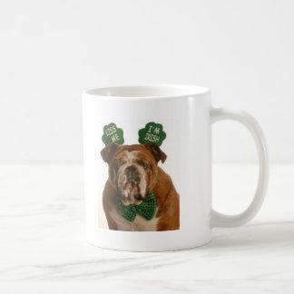 béseme que soy perro irlandés taza de café