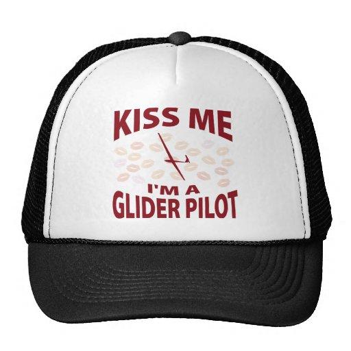 Béseme que soy piloto de planeador gorros bordados