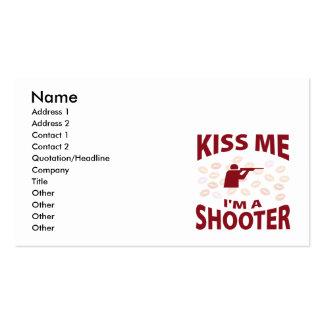 Béseme que soy pistola tarjetas de visita
