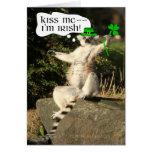 Béseme que soy plantilla irlandesa de la tarjeta d
