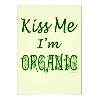 Béseme que soy plantilla orgánica de la invitación