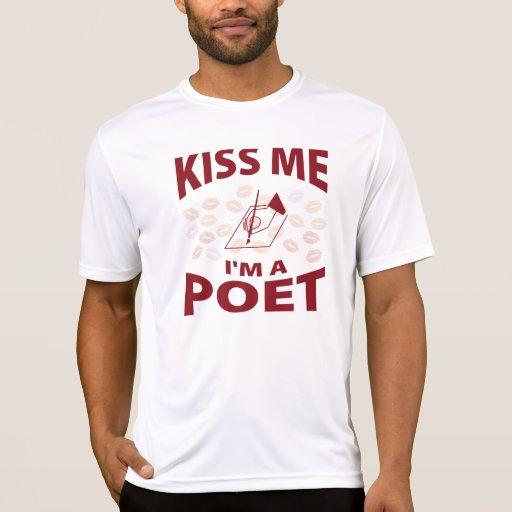 Béseme que soy poeta camisetas