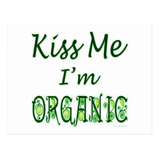 Béseme que soy postal verde orgánica del refrán