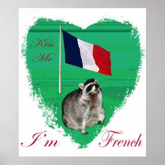 Béseme que soy poster francés