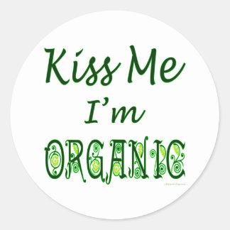 Béseme que soy refrán orgánico etiqueta redonda