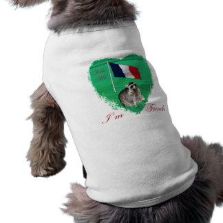 Béseme que soy ropa del mascota del francés playera sin mangas para perro