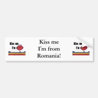 Béseme que soy rumano pegatina para auto