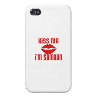 Béseme que soy Somoan iPhone 4 Cárcasas
