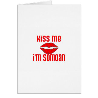 Béseme que soy Somoan Tarjeton