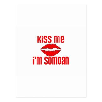 Béseme que soy Somoan Tarjeta Postal