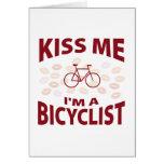 Béseme que soy un Bicyclist Felicitación