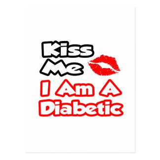 Béseme… que soy un diabético tarjeta postal