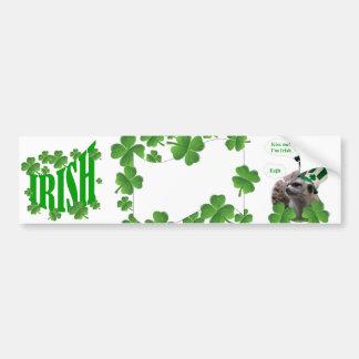 Béseme que soy un diseño irlandés del meerkat pegatina para auto