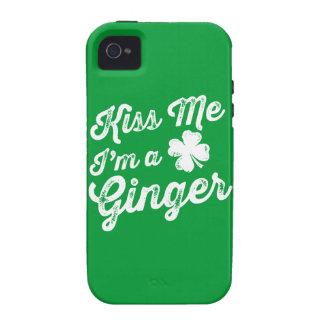 ¡Béseme que soy un jengibre! Case-Mate iPhone 4 Carcasa