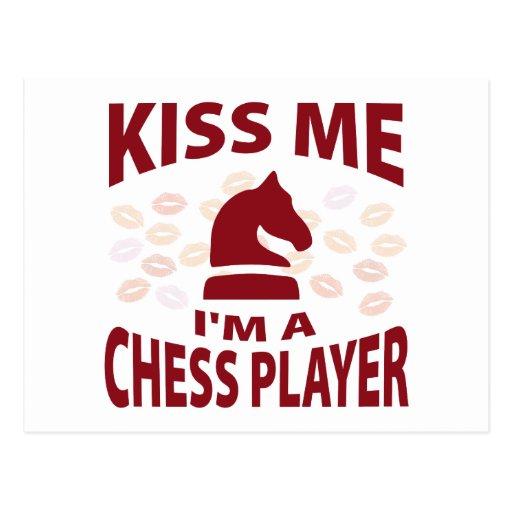 Béseme que soy un jugador de ajedrez tarjeta postal