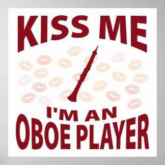 Béseme que soy un jugador de Oboe Posters