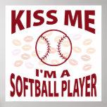 Béseme que soy un jugador de softball impresiones