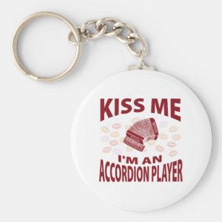 Béseme que soy un jugador del acordeón llavero personalizado