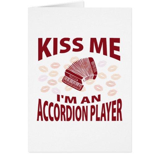 Béseme que soy un jugador del acordeón tarjeton