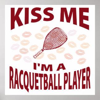 Béseme que soy un jugador del Racquetball Impresiones