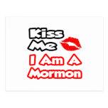 Béseme… que soy un mormón tarjetas postales