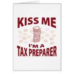 Béseme que soy un preparador de impuesto tarjetas