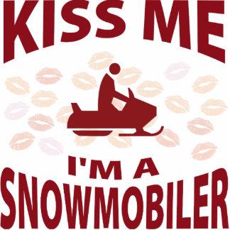 Béseme que soy un Snowmobiler Escultura Fotográfica