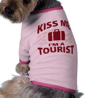 Béseme que soy un turista camisa de perrito